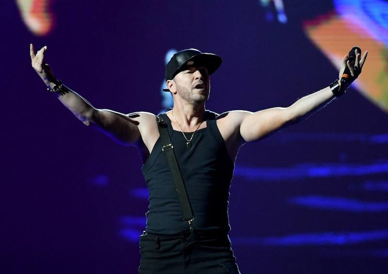 Singer Donnie Wahlberg of New Kids on the Block performs