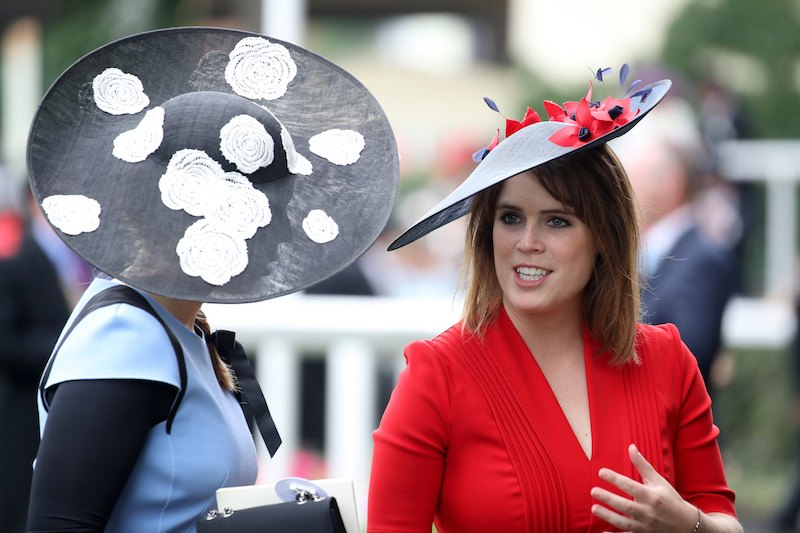 Princess Eugenie of York (R) and Princess Beatrice of York (L) are seen in the Parade Rin