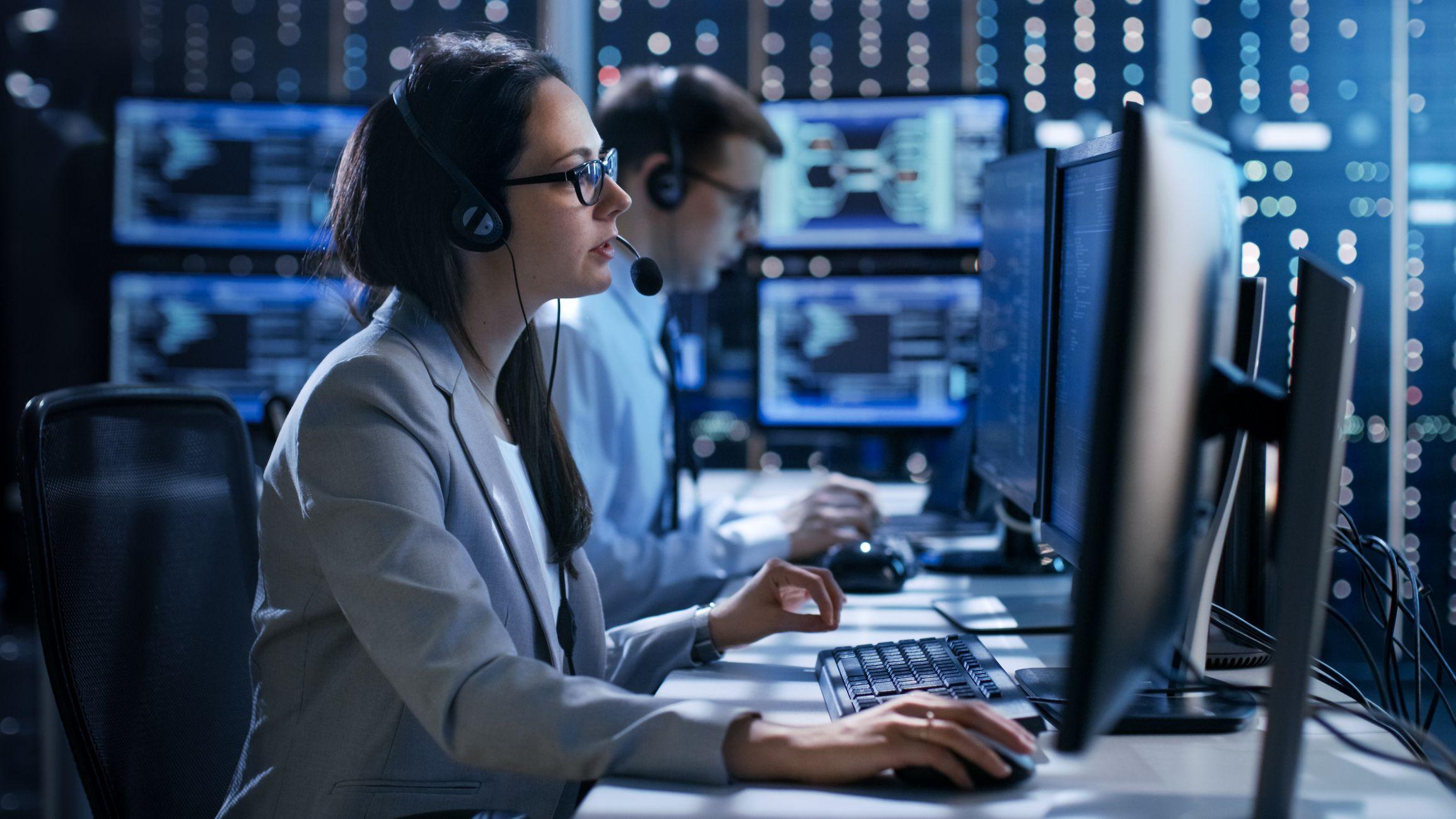dispatchers working