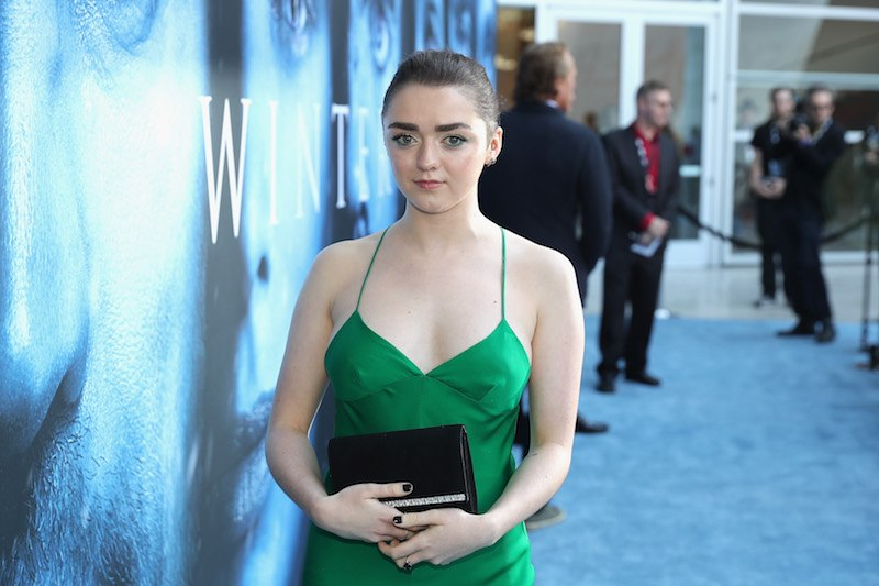 "Actor Maisie Williams attends the premiere of HBO's ""Game Of Thrones"" season 7 a"