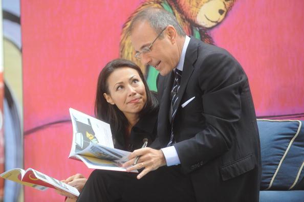 matt lauer and ann curry read books together