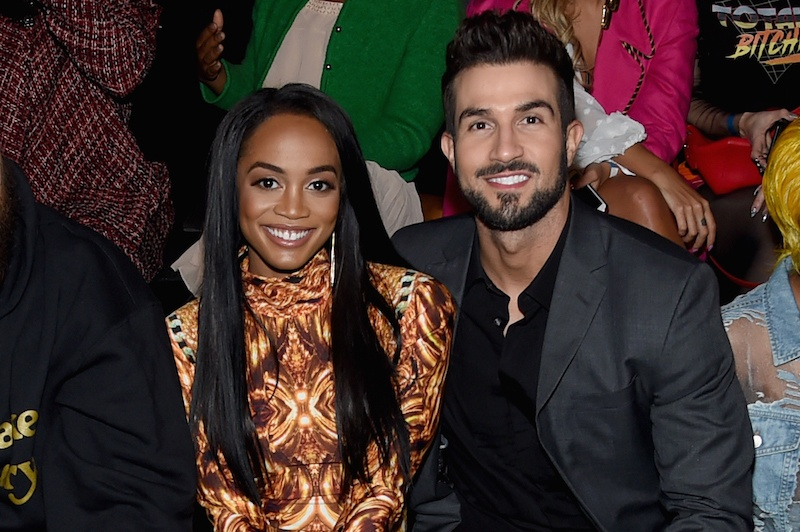 Rachel Lindsay and Bryan Abasolo attend The Blonds fashion show during New York Fashion Week: