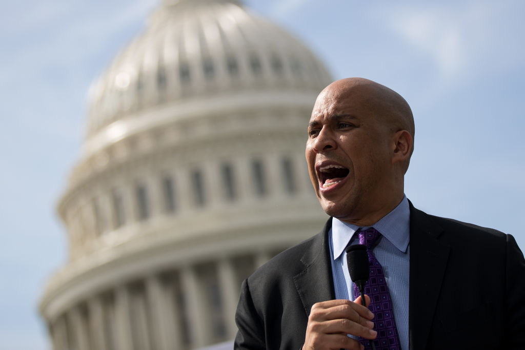 cory booker in front of the capital