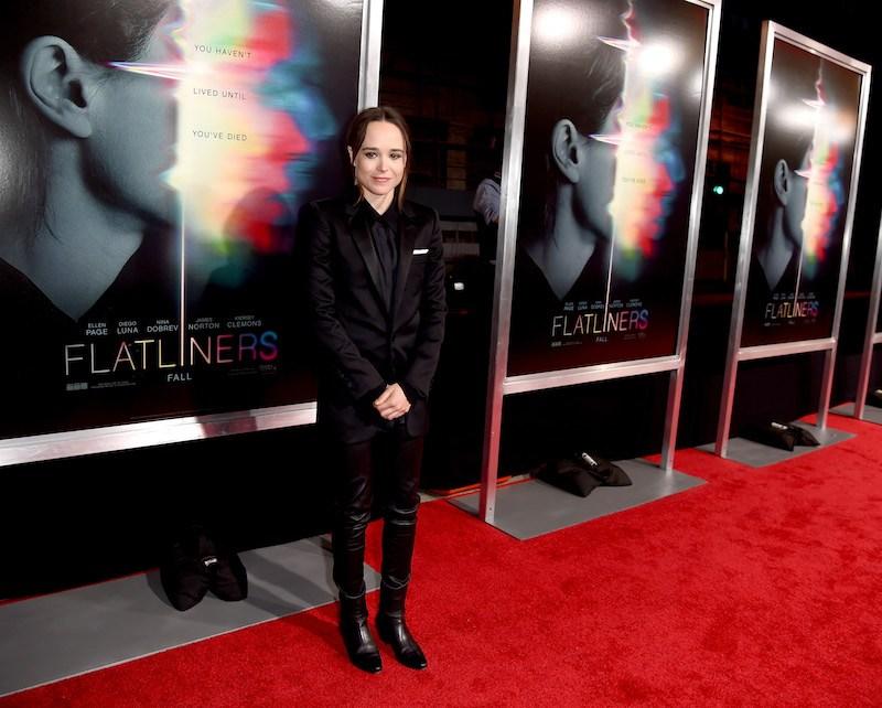 Actress Ellen Page arrives at the premiere