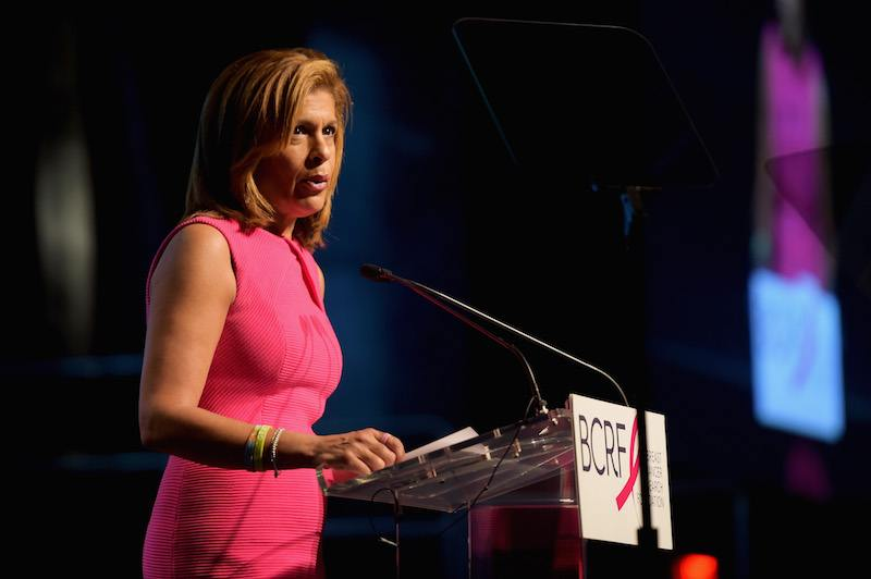News anchor Hoda Kotb speaks onstage at the Breast Cancer Research Foundation