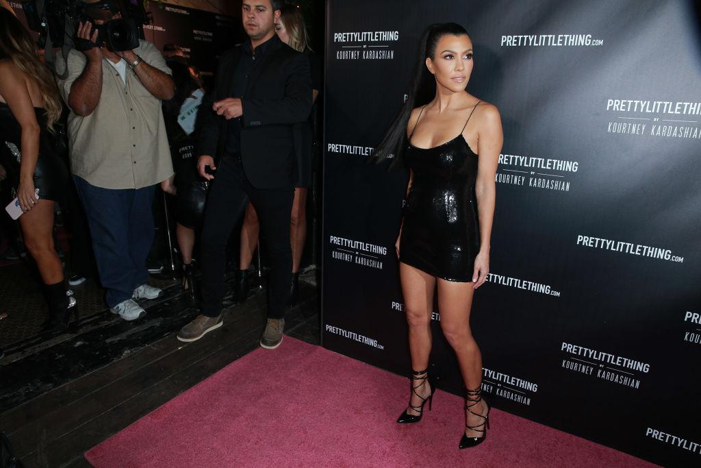 Kourtney Kardashian attends the launch of PrettyLittleThing by Kourtney Kardashian on October 25, 2017 in Los Angeles, California.