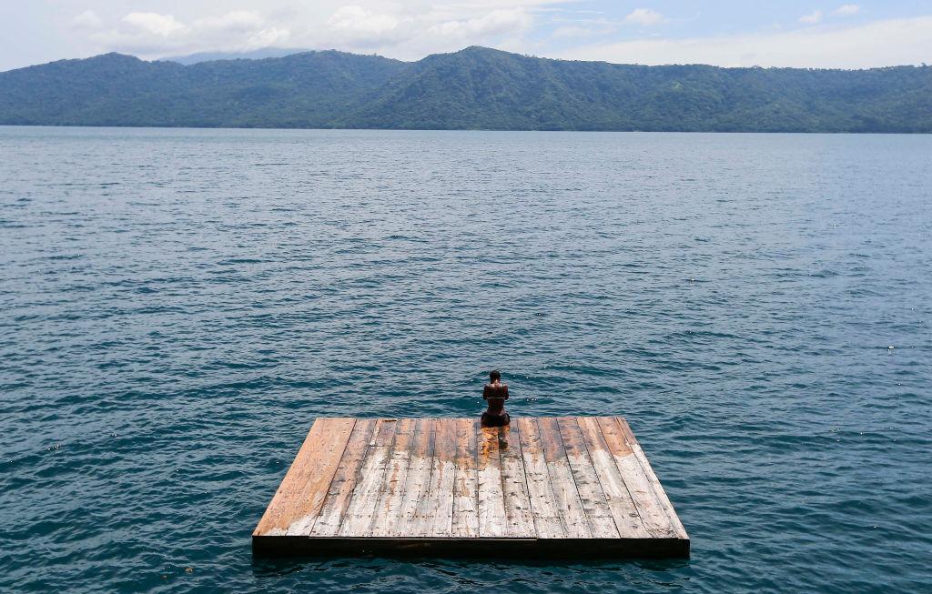 "The ""Laguna de Apoyo"" volcanic lagoon in Granada, about 43 kilometres from Managu"
