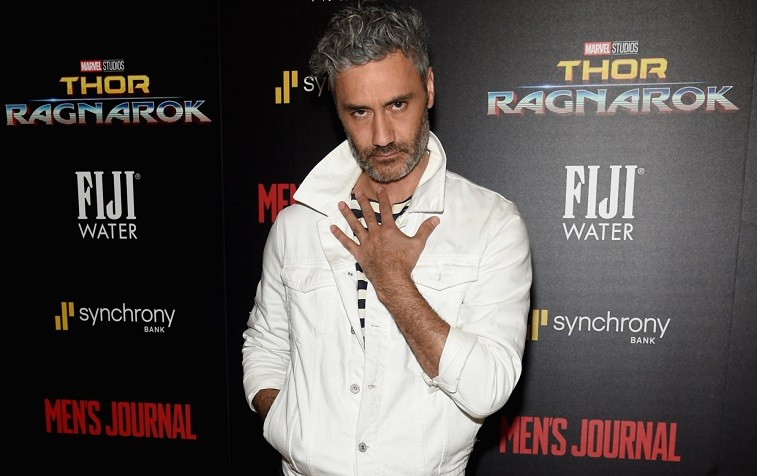 "Director Taika Waititi attends The Cinema Society's Screening Of Marvel Studios' ""Thor: Ragnarok"" at the Whitby Hotel on October 30, 2017 in New York City."