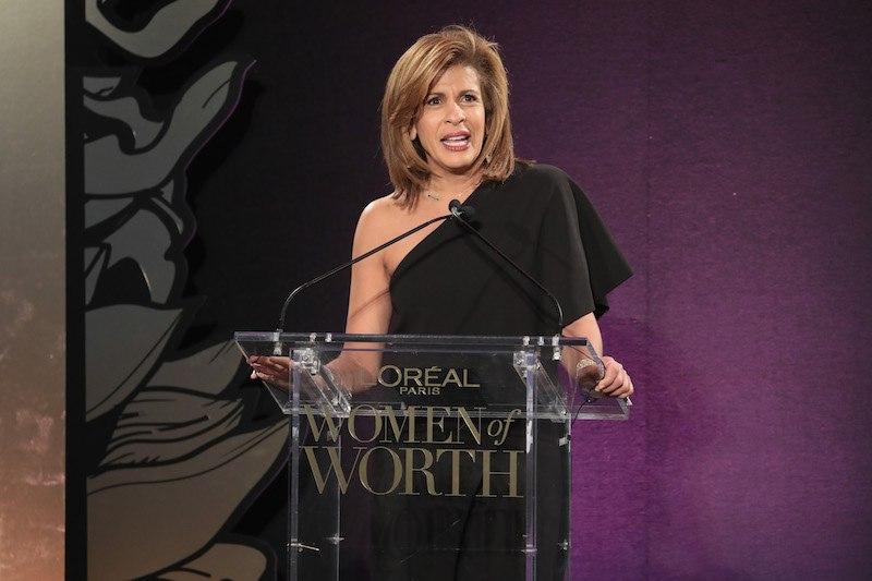 Hoda Kotb speaks onstage during the L'Oreal Paris Women of Worth Celebration 2017