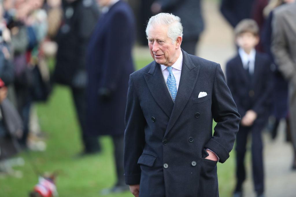 Prince Charles walking outside