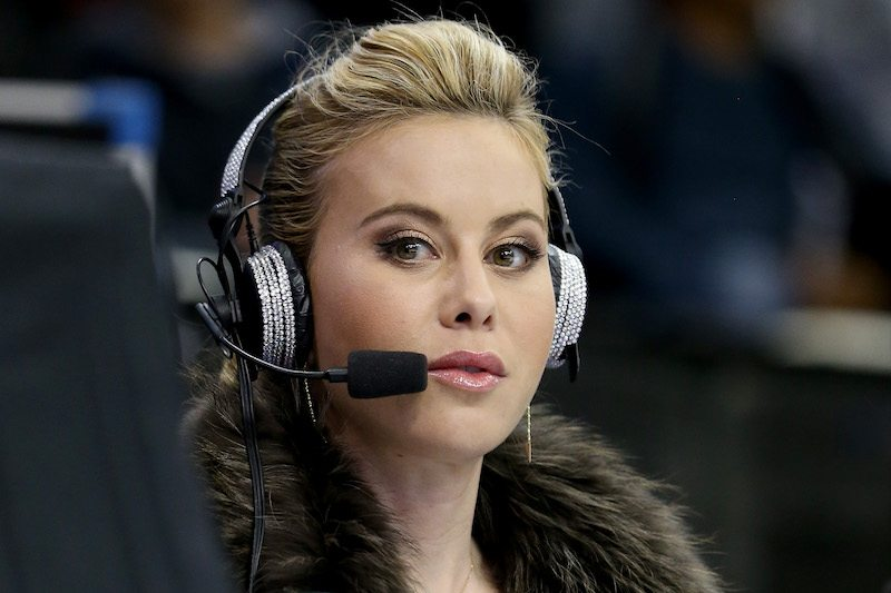 Tara Lipinski provides commentary for the Men's Short Program