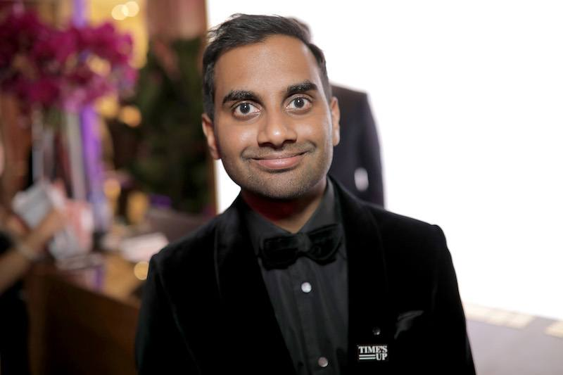 Actor/producer Aziz Ansari attends the Official Viewing and After Party of The Golden Globe Awards