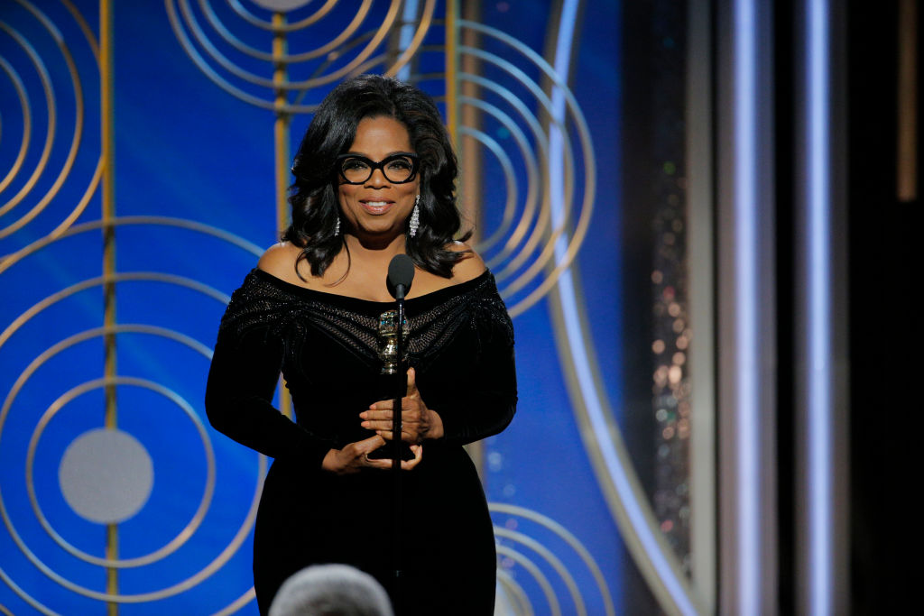 Oprah speaks at the Golden Globes 2018