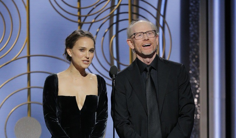 Natalie Portman and Ron Howard Golden Globes 2018