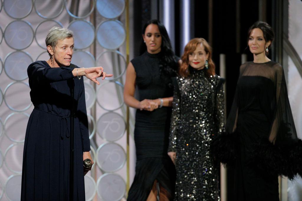 Frances McDormand Golden Globes 2018