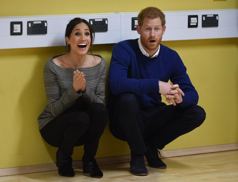 Prince Harry and his fiancee Meghan Markle attend a street dance class