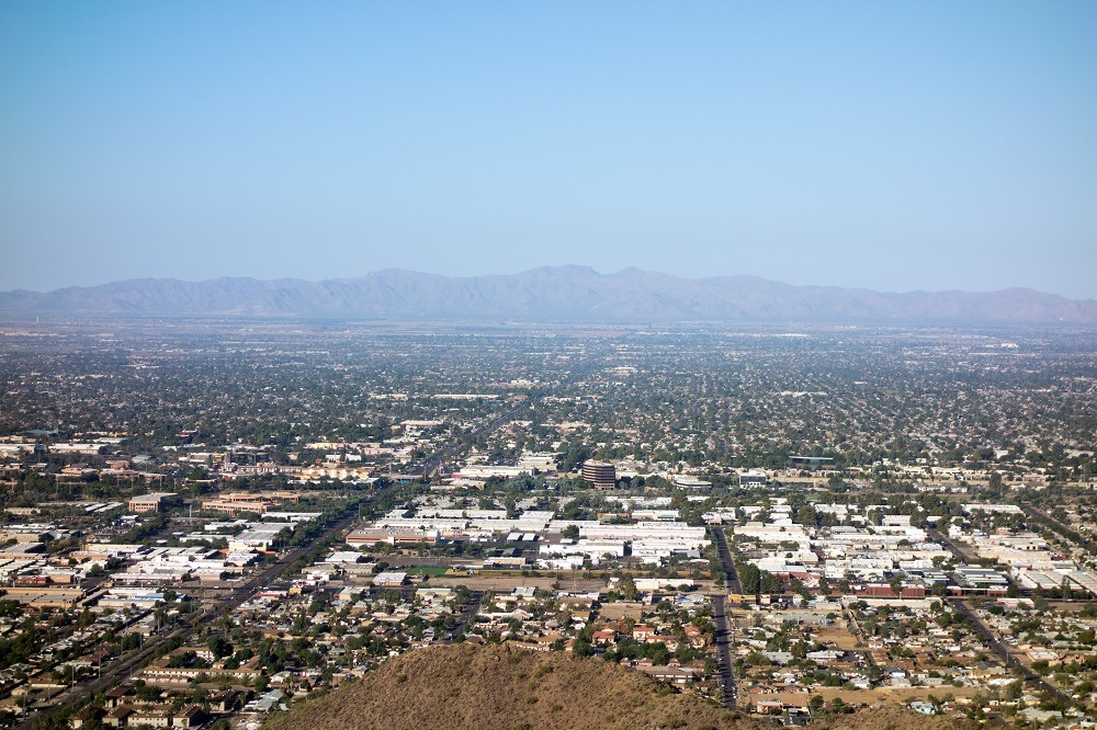 Glendale, Peoria and Phoenix from North Mountain Park, Arizona