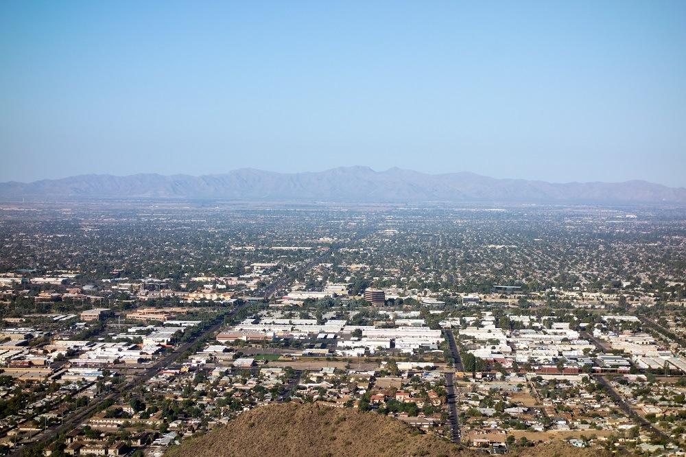 Glendale, Peoria and Phoenix from North Mountain Park, Arizona