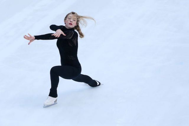 Gracie Gold performing on the ice.