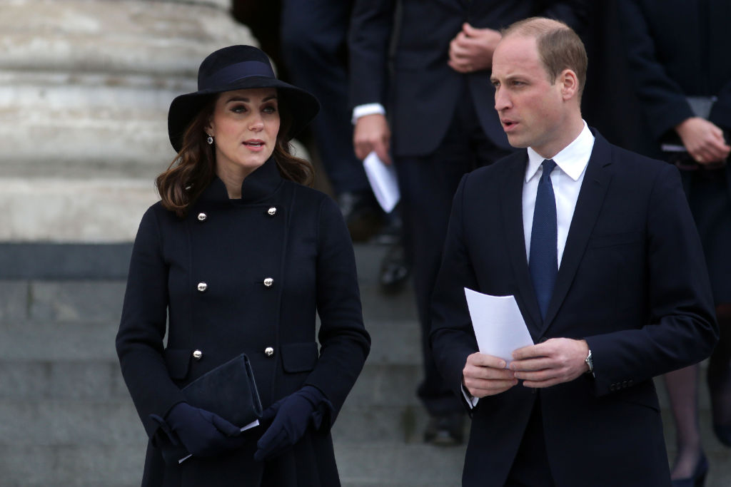 Catherine, Duchess of Cambridge and Prince William, Duke of Cambridge leave after attending the Grenfell Tower National Memorial Service