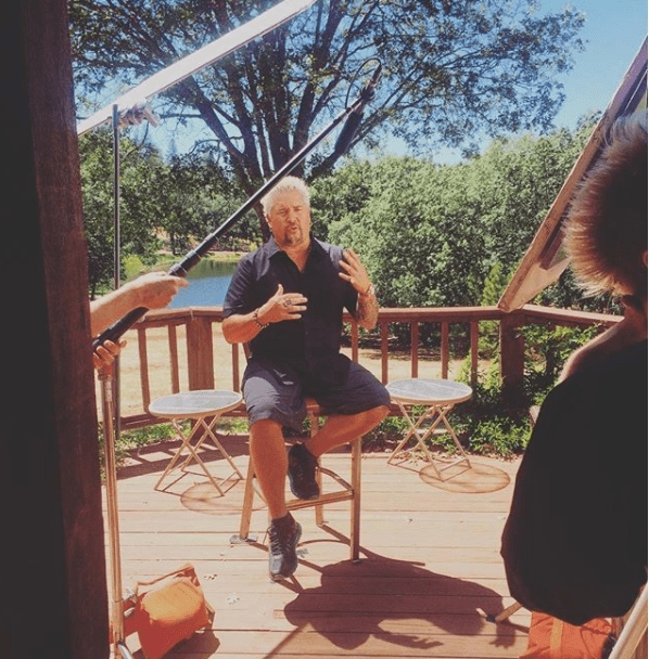 Guy Fieri interview Backyard