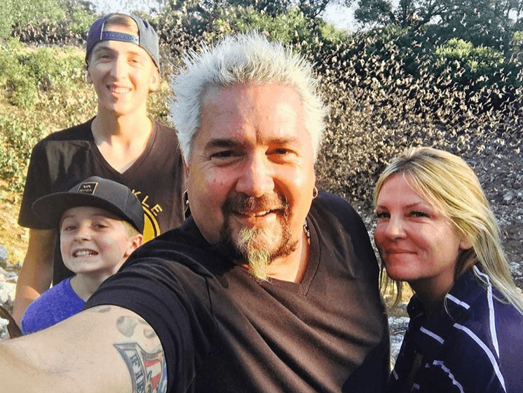 Guy Fieri Family Photo