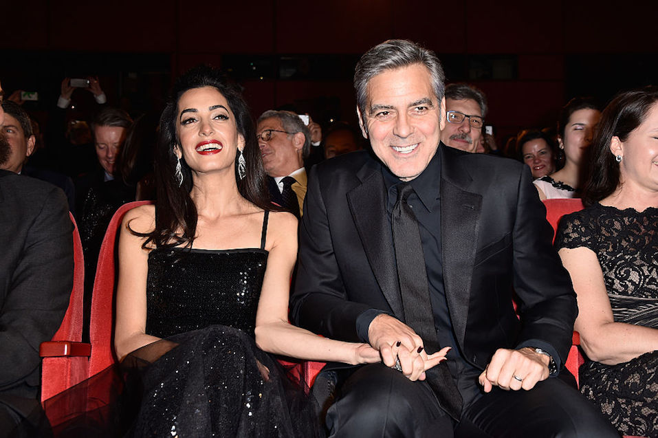 George Clooney and Amal Clooney attend the 'Hail, Caesar!' premiere
