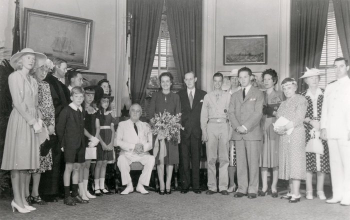 Harry Hopkins and Louise Gill Macy wedding