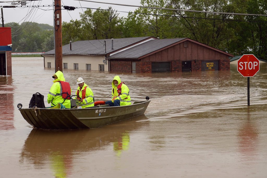 Towns along the Meramec River brace for the rivers crests after days of rainfall in the region