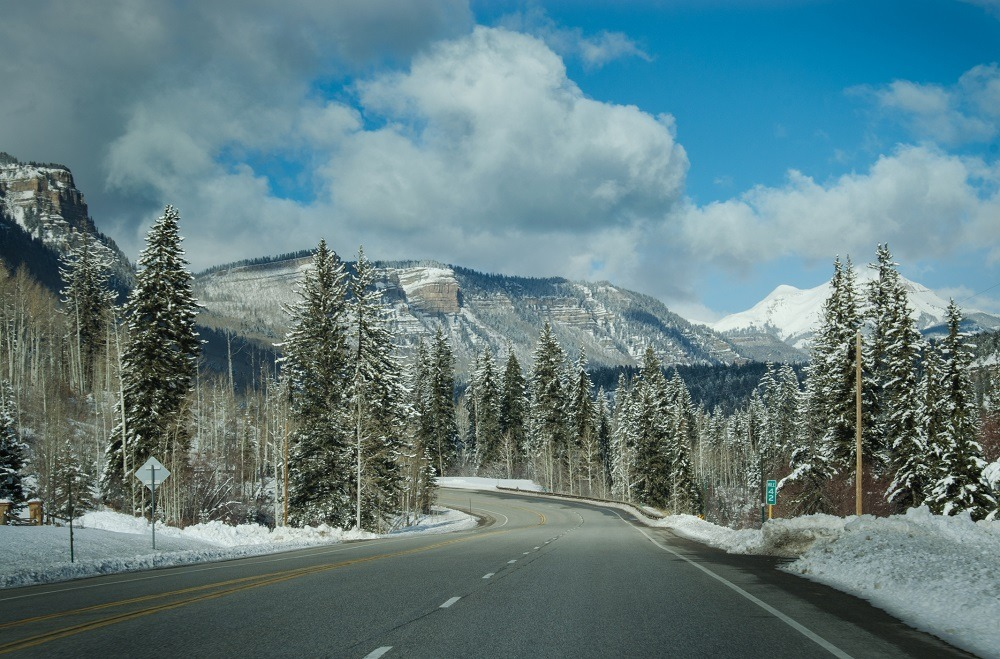 San Juan National Forest in Durango, Colorado on Highway 550