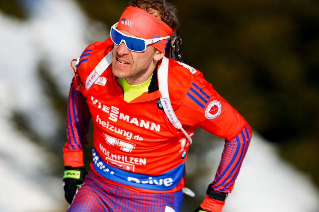Lowell Bailey of USA in action during the IBU Biathlon World Championships Men's Sprint
