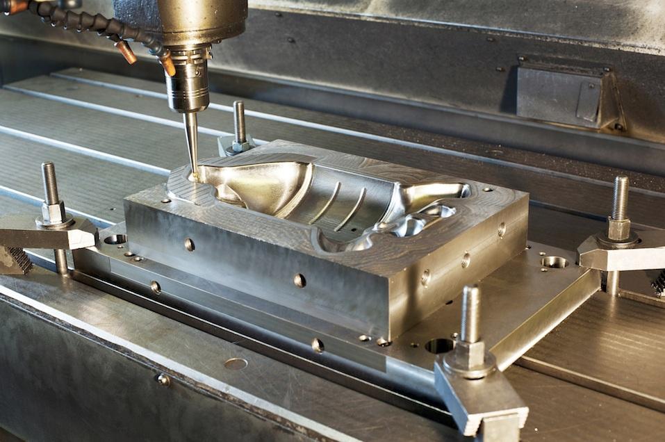 Industrial metal mold/blank milling