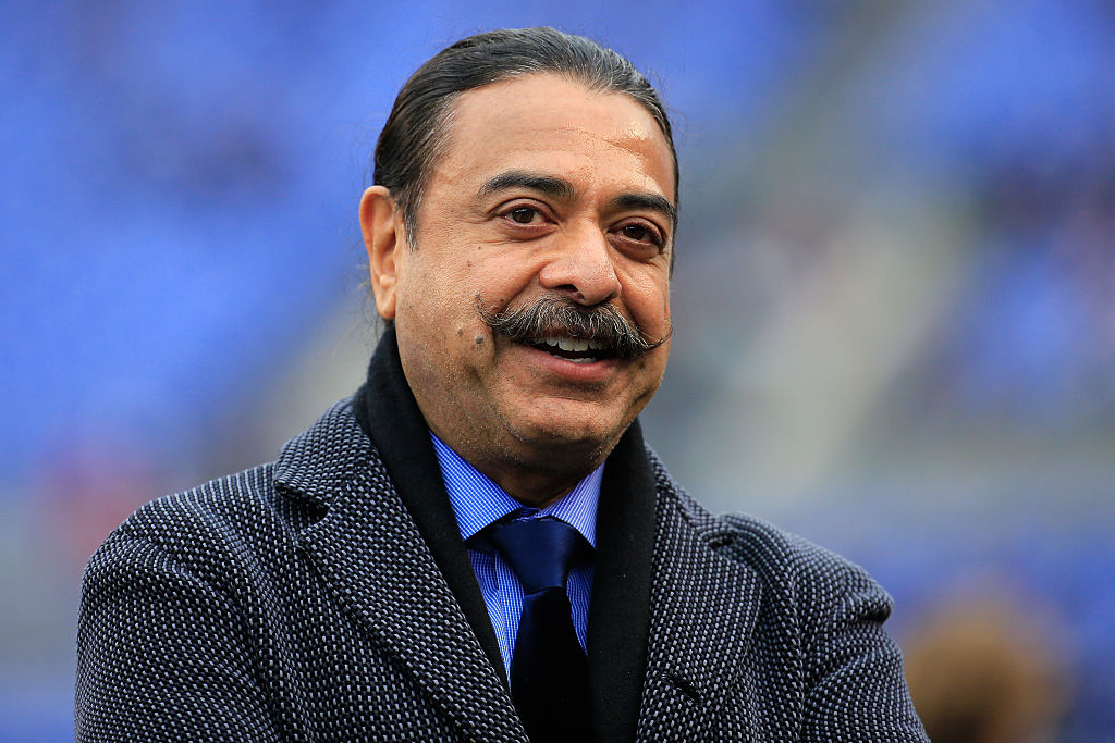 Jacksonville Jaguars owner Shahid Khan looks on before a game