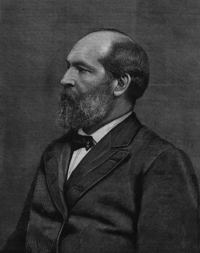 James Abram Garfield in a painting.
