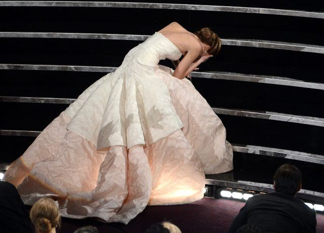 Jennifer Lawrence's trip on the stairs.