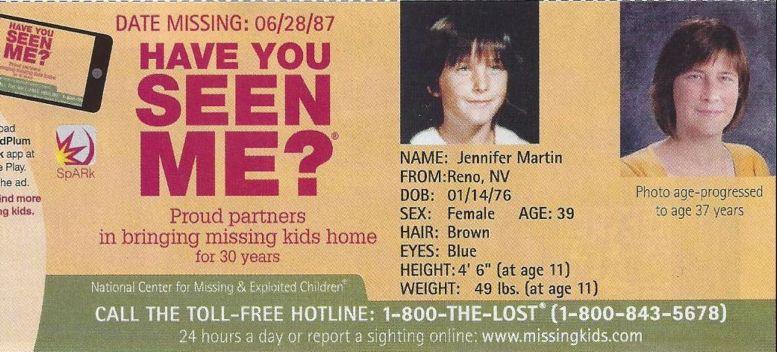 Jennifer Martin missing child