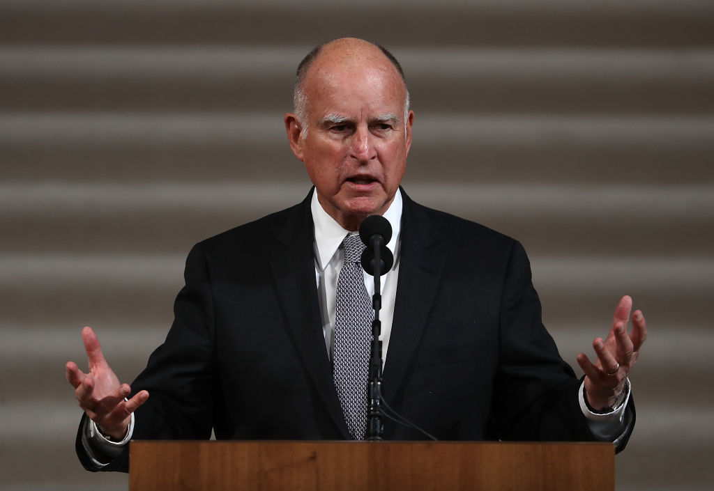 Governor Jerry Brown of California