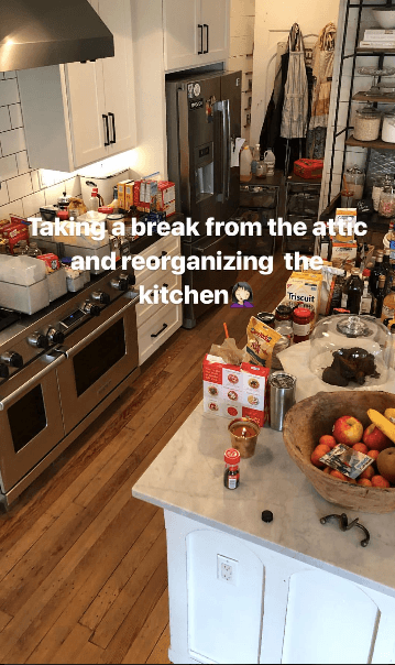 Joanna Gaines Kitchen reorganization