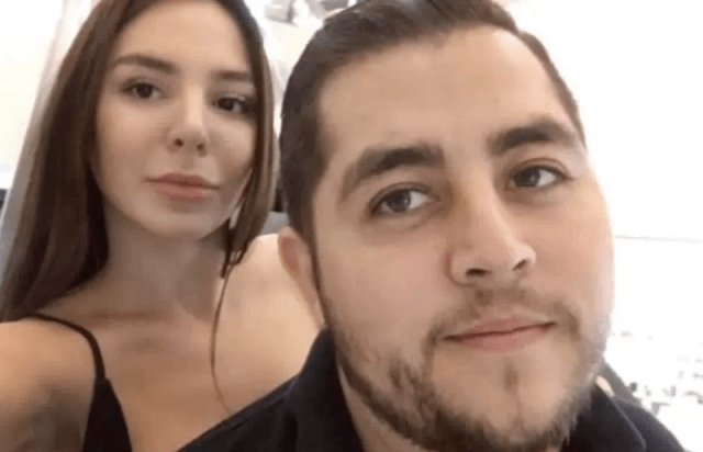 Anfisia and Jorge in a selfie.