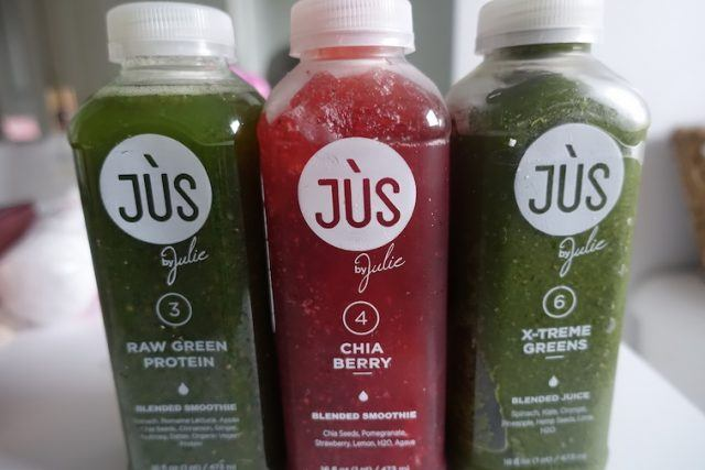 a selection of juices