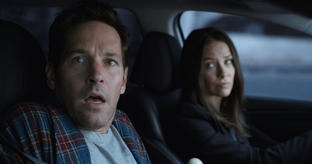 Scott Lang/Ant-Man (Paul Rudd) and Hope van Dyne/The Wasp (Evangeline Lilly)