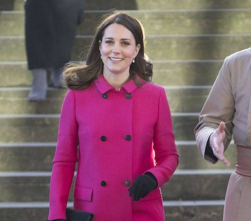 COVENTRY, ENGLAND - JANUARY 16: Catherine, Duchess of Cambridge walks around Coventry Cathedral during their visit to the city on January 16, 2018 in Coventry, England. (Photo by Heathcliff O'Malley - WPA Pool /Getty Images)