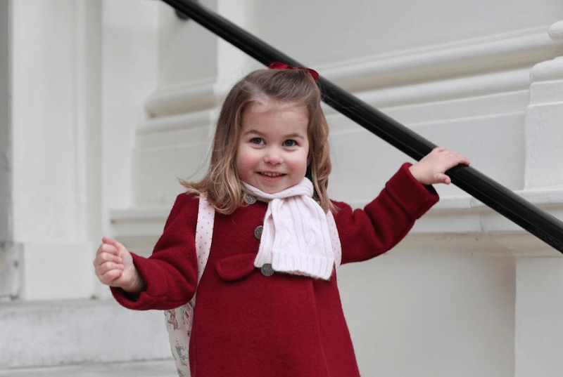 Princess Charlotte on her way to school