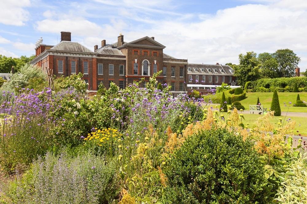 Kensington Palace set in Kensington Gardens