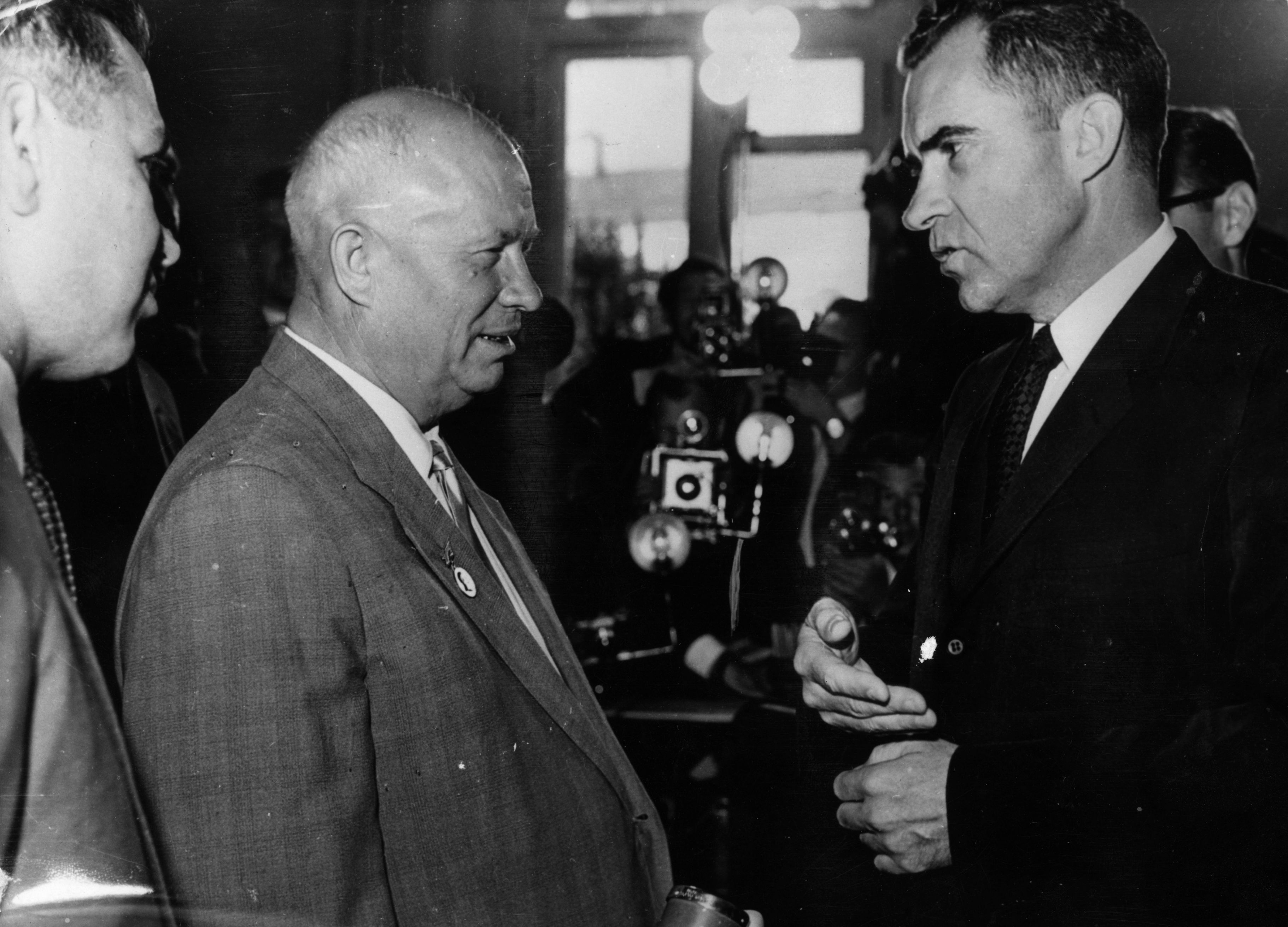 Richard Nixon And Nikita Khrushchev