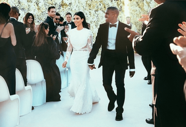Kim Kardashian and Kanye West's wedding.