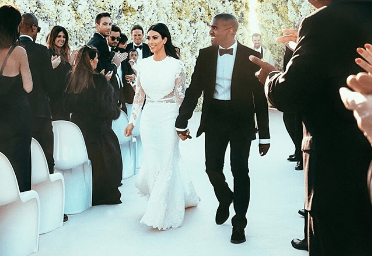 Kim-Kardashian and Kanye wedding