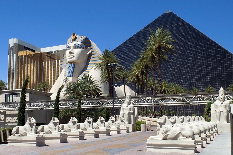 Luxor Hotel and Casino in Las Vegas. Nevada spends a fortune on holiday shopping every year.