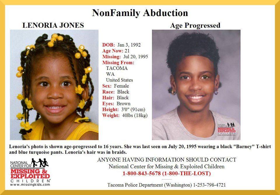 Lenoria Jones missing child