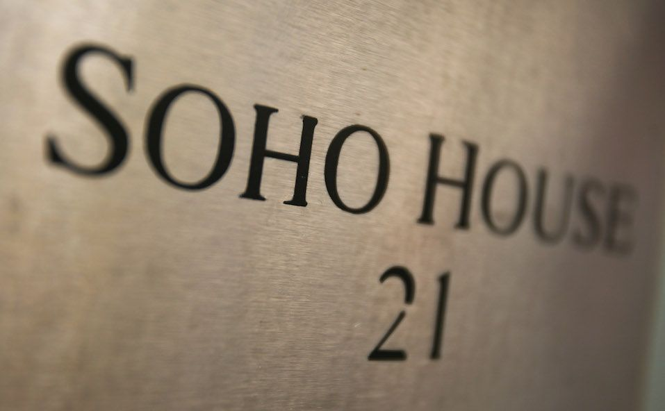 The front sign of Soho House in SOHO